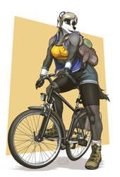Mustelady Rides: Liz by MykeGreywolf