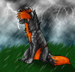 Stand in the rain :AT: by I-love-wolvez