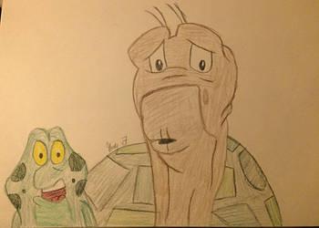 Jean Bob and Speed the Turtle  by LOZRocksmysocks77