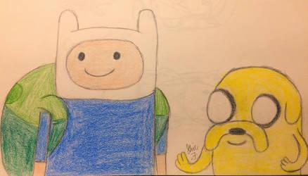 Finn and Jake redraw  by LOZRocksmysocks77