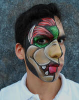 Bowser facepaint by froggyjoseguy