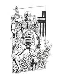 Deathstroke the Terminator by DarkMotoMark