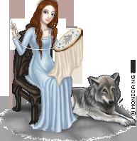 Sansa and Lady by Monica-NG