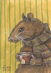 Rat With Tea by liselotte-eriksson
