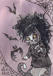 Deathrock Cat by liselotte-eriksson