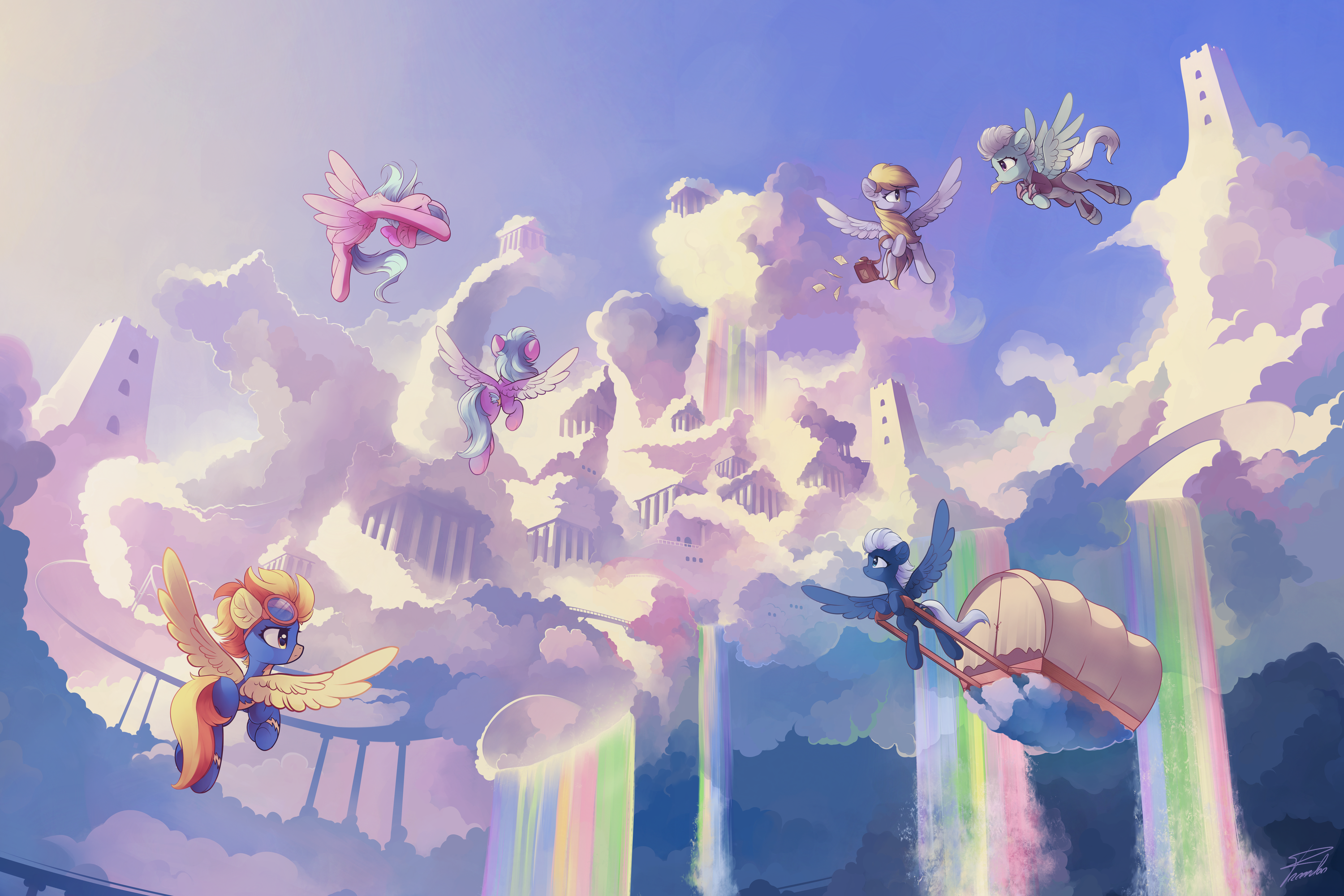 Background ponies by freeedon