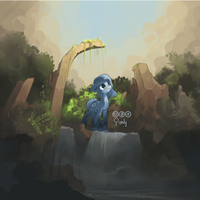 Pony in ruins by freeedon