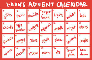 [CHEAP REDUCED] ADVENT CALENDAR // OPEN by i-kon