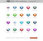 FREE: Social Media Bubblicons by HYDRATTZ