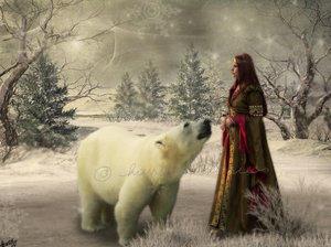 The Polar Bear King by DesigningDivas