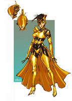 Baroness Resin_DIAL H_character design by Santolouco