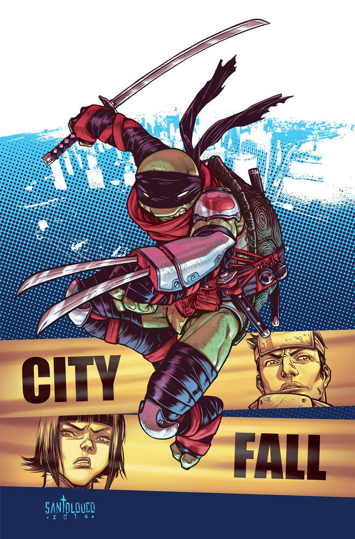 TMNT#25: City Fall_cover by Santolouco