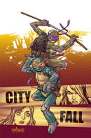 TMNT#26: City Fall_cover by Santolouco