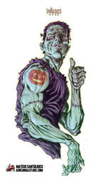 Jack O' Lantern Tattoo by Santolouco