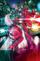 TMNT#40_cover by Santolouco