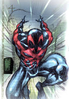 Spider 2099 sketch by Santolouco