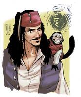 Captain Jack Sparrow by Santolouco