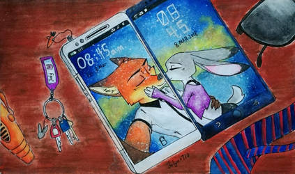 Phone's wallpaper - Wildehopps (completed) by Jolyn0710