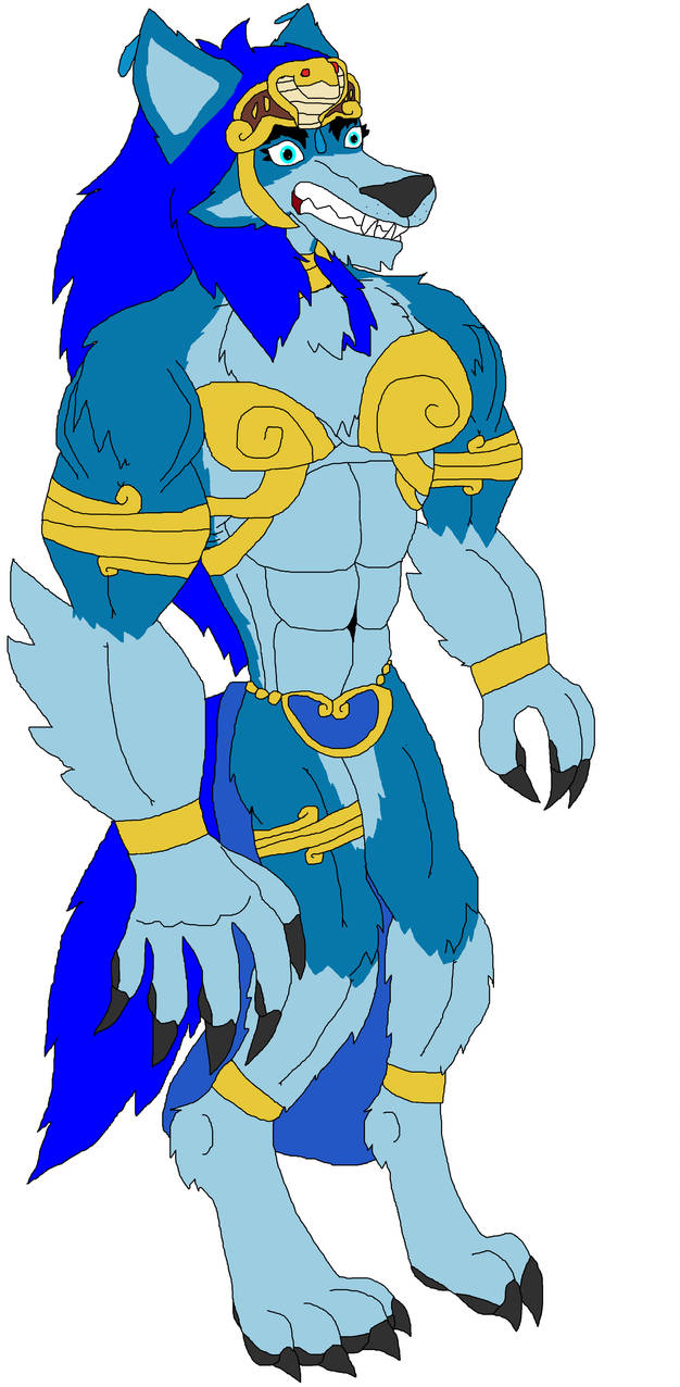 Blue Werewolf Princess by Perithefox10