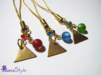 Goddess Triforce Cellphone Charms by Sarinilli