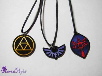 Acrylic Zelda Charm Necklaces by Sarinilli