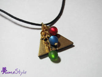Triforce Necklace with Virtue Pearls by Sarinilli