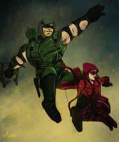 The Green Arrow Returns by darthfilart