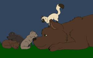 Werewolf Family Nap by XXMyTripletsXX