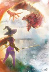 Dragon Of The Waterfalls by Leonardo-Lambrecht