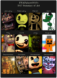 My Summary of Art in 2017! by FNAFplayer2016