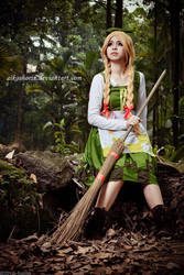 Broom Girl by AikoShorin