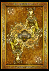 Queen of Spades Card by blue-fusion