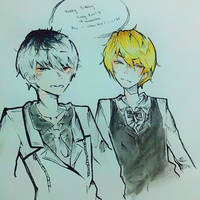 Sasaki X Shizuo Crossover eyy by Loli-Butts
