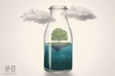 Life in a bottle by Mazaj2b