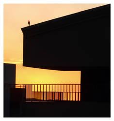 highrise sunset by MarcCopeland