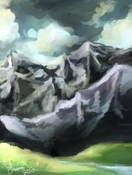 Mountains speedpaint by Piav