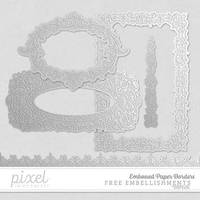 Embossed Paper Borders // Embellisments by pixelinmypocket