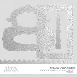 Embossed Paper Borders // Embellisments by pixelinmypocket