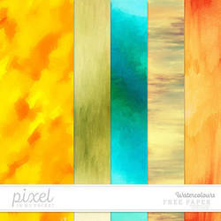 Watercolours // Papers by pixelinmypocket
