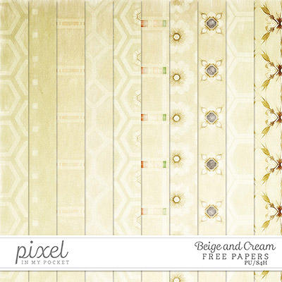 Beige and Cream // Papers by pixelinmypocket