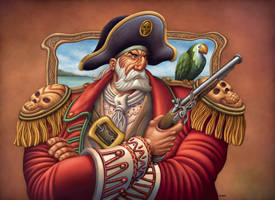 Pirate and parrot by Nigio