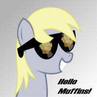 Derpy Hooves: I see muffins! by CrimsonLynx97