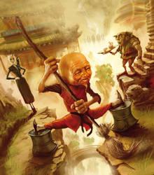 'Thief of time'Terry Pratchett by MarcSimonetti