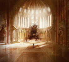 The Iron Throne, GRR Martin by MarcSimonetti