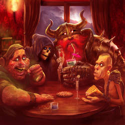 The four riders...  Discworld by MarcSimonetti