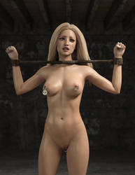 Blonde Slave Girl: Bad Day by crabbyoldman