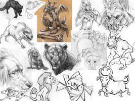 Sketch Page - Beasties by StudioPsycho