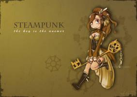 Steampunk Key by H-Chan-Arts