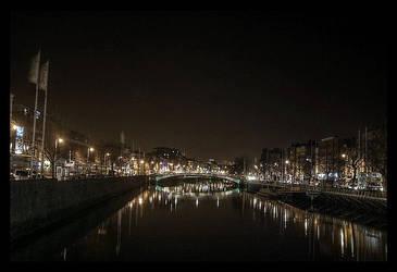 River Liffey, Dublin by unbearablegrey
