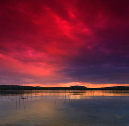 Northern Carelian Sunset by unbearablegrey